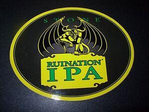"STONE BREWERY Green IPA Circle 4/"" STICKER decal craft brewing arrogant bastard"
