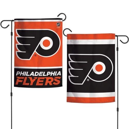 """PHILADELPHIA FLYERS DOUBLE SIDED 12/""""X18/"""" GARDEN FLAG BANNER NEW"""