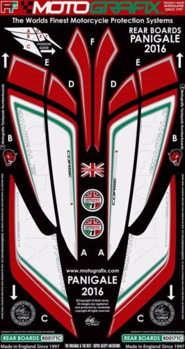 Motografix DUCATI 1299//959 Panigale Rear Seat Unit Red//White//Green Gel Protector