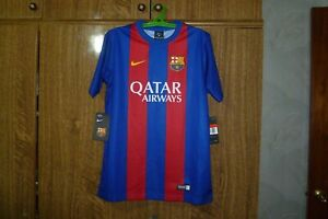 quality design 11dac 449fa Details about Barcelona FC Nike New Football Shirt Home 2016/2017 Soccer  Kids Size L 12-13 yrs