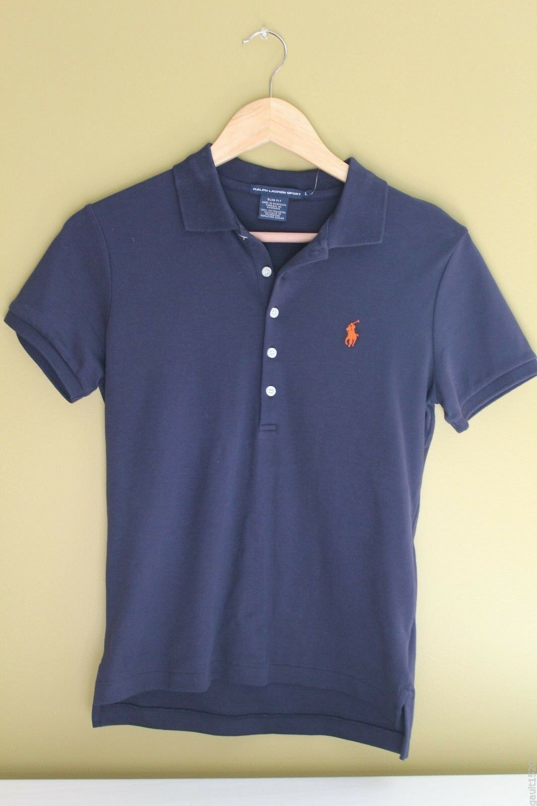 NWT Ralph Lauren Sport Cotton Polo Sexy Navy Blau Short Sleeve Henley Shirt L