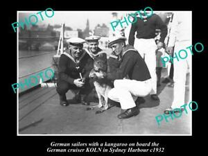 OLD-8x6-HISTORIC-PHOTO-OF-GERMAN-NAVY-SHIP-KOLN-IN-SYDNEY-c1932-KANGAROO