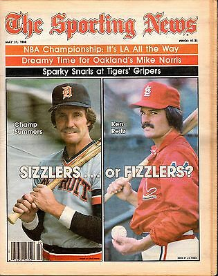 Sporting News 5/31/1980 Baseball magazine, Champ Summers,Tigers ~ Ken Reitz
