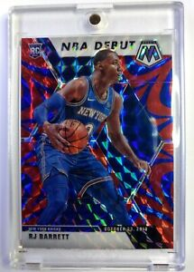 2019-20 Panini Mosaic NBA Debut Blue Reactive Prizm RJ Barrett Rookie RC #270