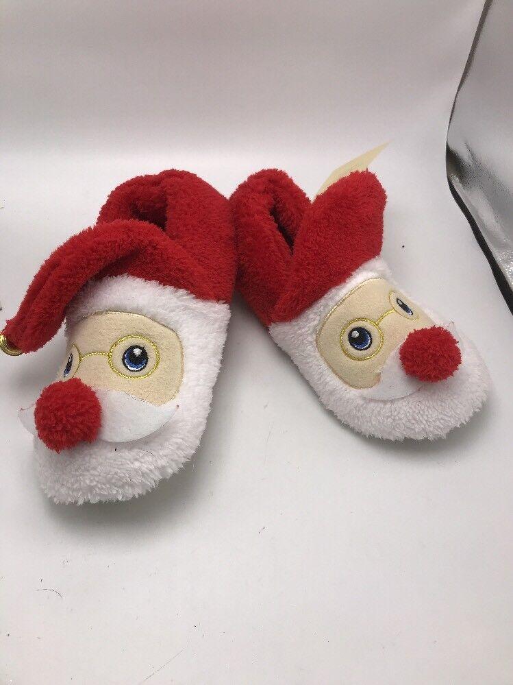 Christmas Santa Slippers size 7/8 Santa C10