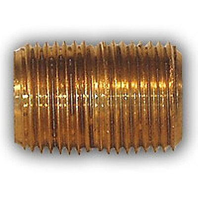 """Brass Pipe Nipple 3//8/"""" Male NPT x 3//8/"""" Male NPT Hex Fitting Air Fuel Water Gas"""