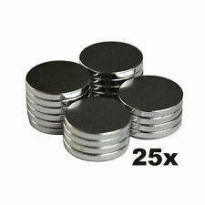 "Rare Earth Neodymium Magnet (25 X-LRG) 1/2 "" x 1/16 "" Inch - Bottle Cap & More"