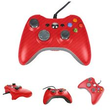 RED XBOX 360 + PC COMPATIBLE WIRED CONTROL PAD GAMEPAD CONTROLLER