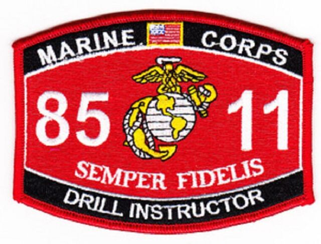 "USMC ""DRILL INSTRUCTOR"" 8511 MOS MILITARY PATCH SEMPER FIDELIS MARINE CORPS"