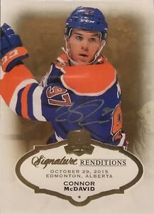 Details About 2015 16 Ud The Cup Connor Mcdavid Signature Renditions Nice Rookie Card