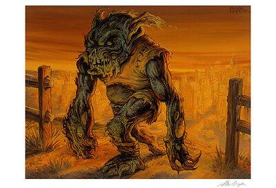 4X MTG Festering Goblin Onslaught Signed by artist.