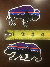 """3+/"""" 4 New Patagonia Stickers including Fitz Roy Trout /& Bear"""