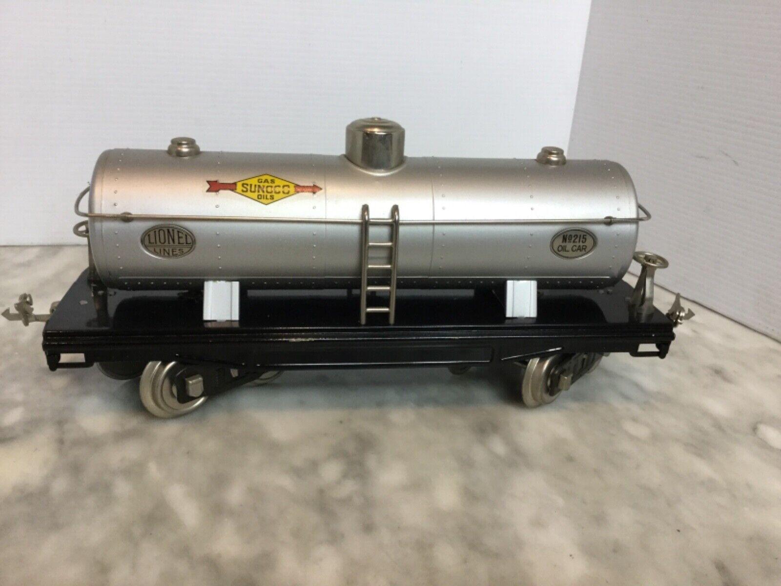 MTH STeARD GAUGE   215 OIL auto argento WITH NICKEL TRIM