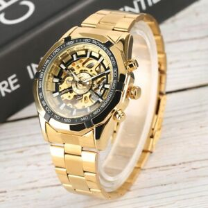 Mens-Automatic-Watches-Mechanical-Skeleton-Self-Winding-Stainless-Steel-Watch