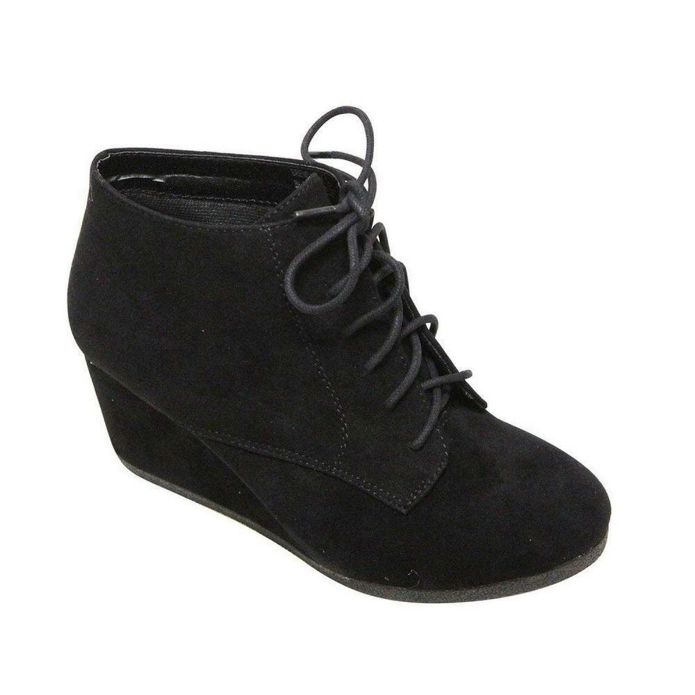 Bella Marie Brenda-11 Women's High Top Lace Up Rounded Toe Platform Wedge...