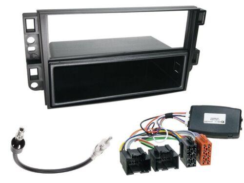 2006-2011 schwarz Radio Einbauset 1 DIN mit LFB für Chevrolet Aveo KLAS