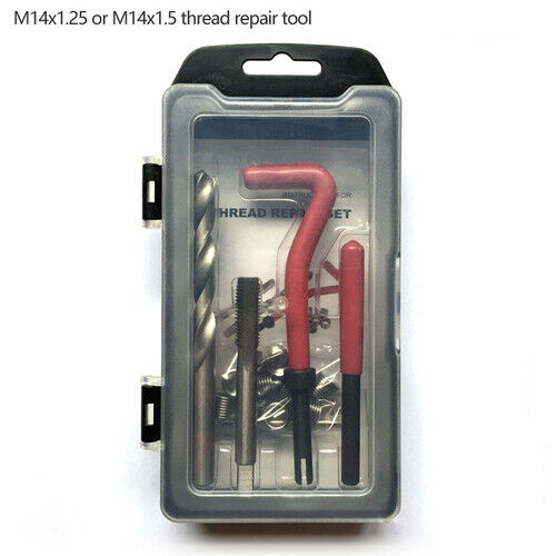 Metric Thread Repair Wire Insert Kits M8 M10 M12 M14 Helicoil Car Coil Tool Set