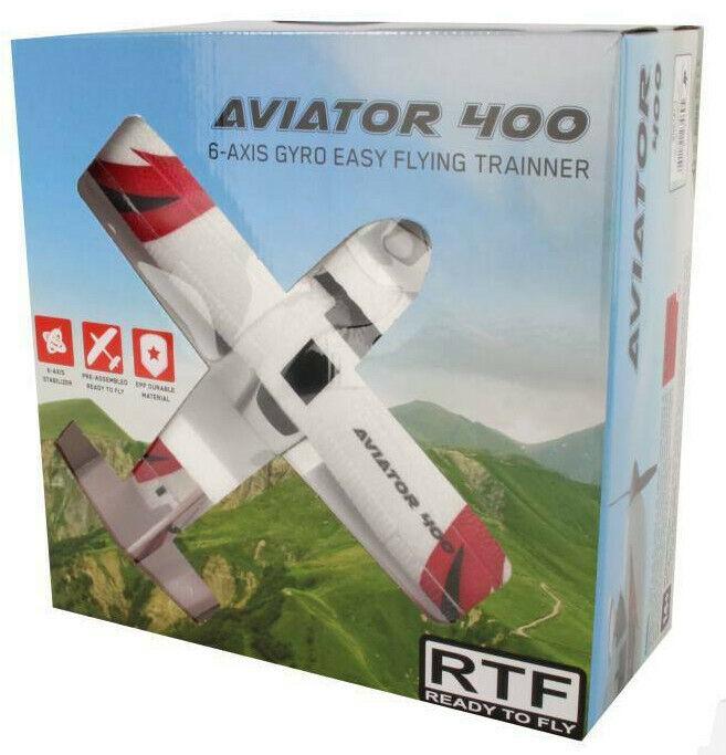 Sonik RC Aviator 400 RTF rödo att flyga Mini RC Plane med tre flygmodelller