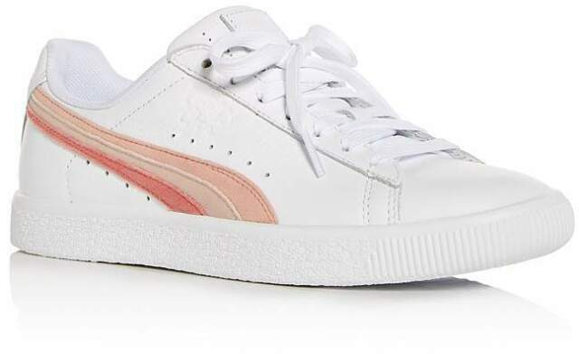 half off a63d3 ba161 Size 6 PUMA Clyde L Velfs White Leather Tennis Running SNEAKERS Womens Shoes