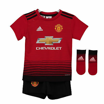 Manchester United Home Baby Kit Shirt Shorts Jersey Suit Soccer Sportswear 2018
