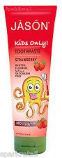 Jason KIDS ONLY Strawberry Sugar-Free Non Fluoride Childs TOOTHPASTE 119g