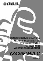 Yamaha Yz 426 F M Lc 2000 Owners Service Manual Free Shipping