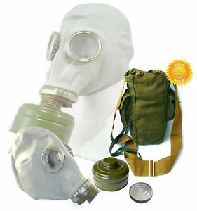Gas-mask-GP-5-Gray-Size-2-Nedium-Soviet-Russian-Military-FULL-SET