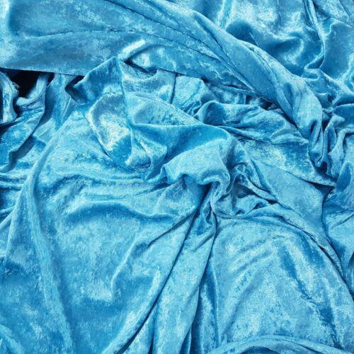 TURQUOISE BLUE Crushed Velvet Velour Fabric Wedding Steam Punk Dress Costumes