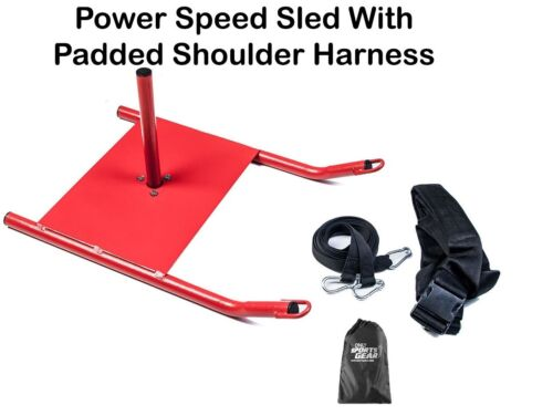 Power Speed Sled With Padded Shoulder Harness For Resistance  Crossfit Training