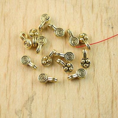 10pcs dark gold-tone spider charms findings h1864
