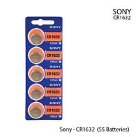 New, Sony Cr1632 3 Volt Lithium Coin Battery (55 Batteries)