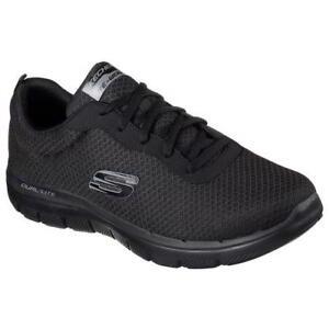 Skechers-FLEX-ADVANTAGE-Negro-para-Hombre-con-Cordones-Zapatillas-Fitness-correr-Talla-7-13