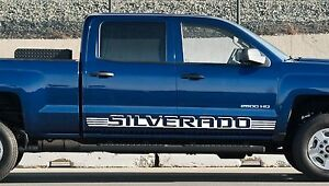 PK Chevy Silverado Door Decals Vinyl Stickers  Shadow - Chevy silverado stickers