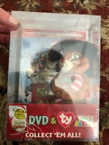 9e27b831f7b Shrek the halls dvd and Ty Beanie Babies Puss In Boots New In Box ...