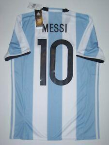 031aff01e 2016-2017 Copa America New Adidas Argentina Lionel Messi Kit Shirt ...