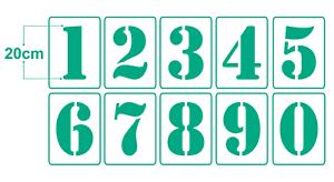 Zahlenschablone-20cm-hoch-Ziffern-Schablonen-Nr-6-einzelne-Zahl