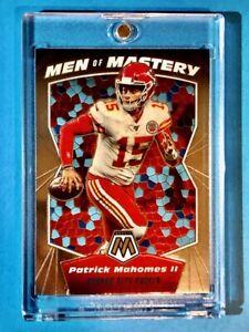 Patrick Mahomes MEN OF MASTERY SPECIAL INSERT PANINI MOSAIC CHIEFS CARD - Mint!