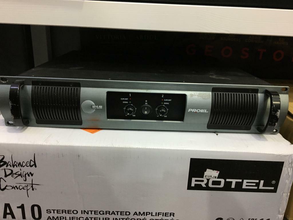 Proel Hp-A 450 Verstärker Stereo 450W Finale Power Unit Rack