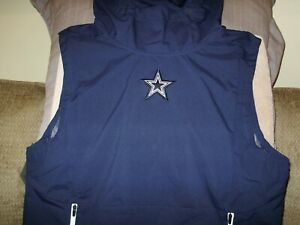 newest 22429 7ddf4 Details about NFL Dallas Cowboys Nike Shield Fly Rush Navy Blue Hoodie Vest  Jacket Men's 2XL