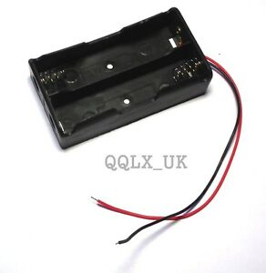 2x-Two-Slots18650-Battery-Case-Holder-Mobile-Battery-Box-with-Wire-Leads-BEST-UK