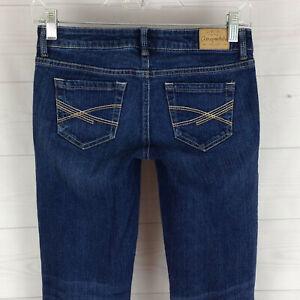 Aeropostale-Ashley-womens-size-0-stretch-blue-faded-dark-wash-ultra-skinny-jeans
