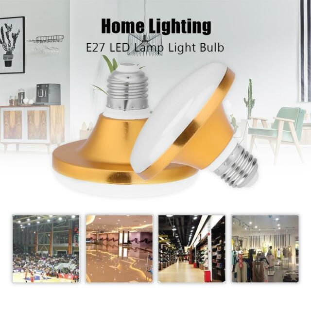 12W-60W AC 220V E27 LED Lamp Flat UFO Light Bulb Bright Light for Home Lighting