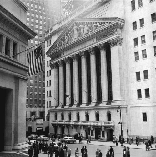 FINANCIAL ART PRINT WALL STREET STOCK BROKER POSTER 11x14 Bull Market