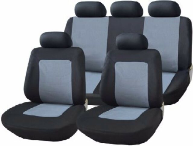 UKB4C Blue Full Set Front /& Rear Car Seat Covers for Focus All Years