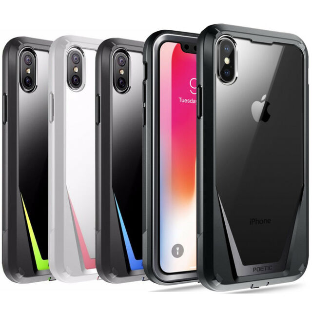 Poetic Guardian W/ Built-in-Screen Protector iPhone X iPhone XS Case 4 Colors
