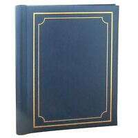 LARGE LEATHER LOOK SELF ADHESIVE PHOTO ALBUM 20 SHEETS / 40 SIDES