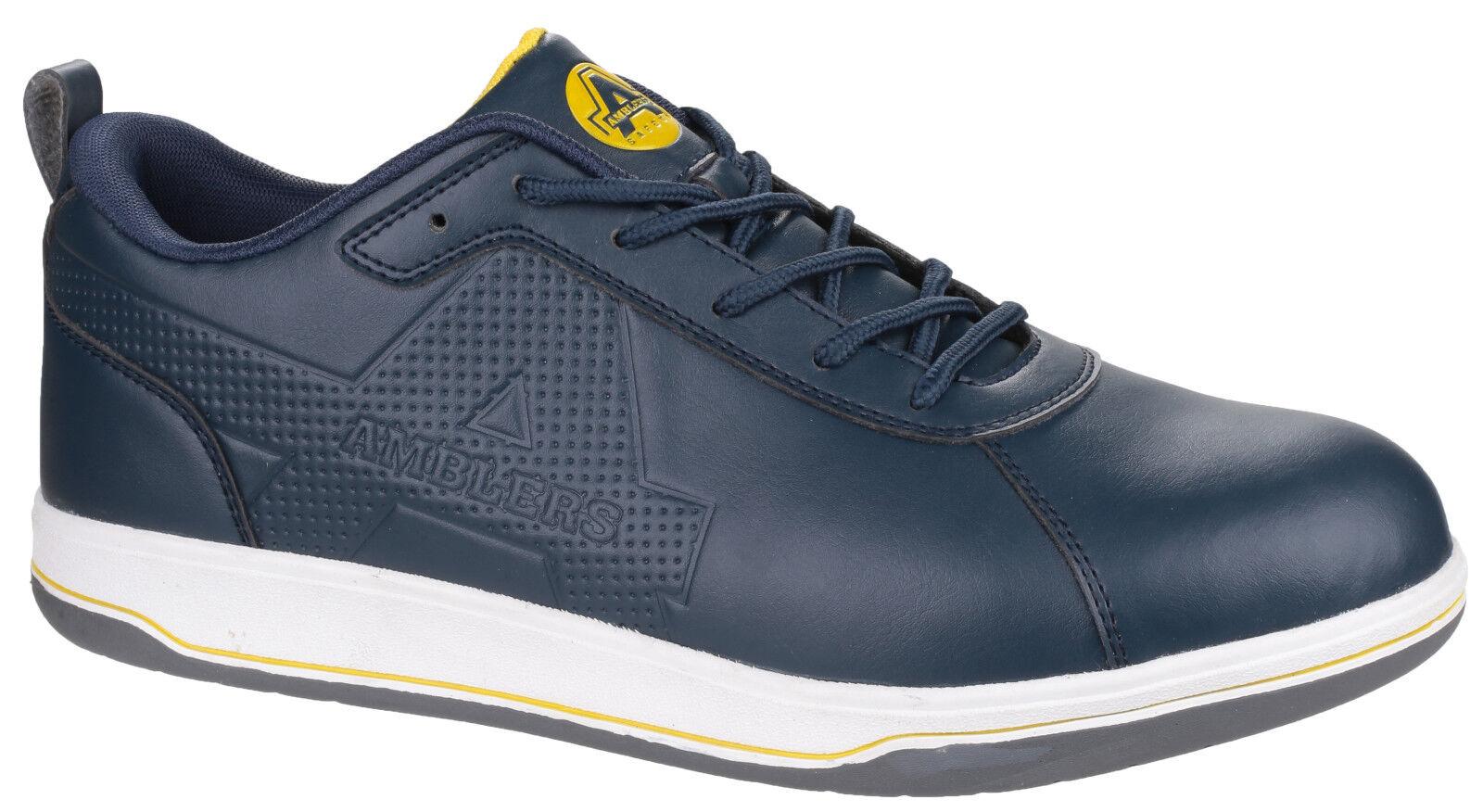 Amblers AS709 Ettrick Seguridad Puntera De Acero Para Hombre Azul Marino Zapatillas Zapatos UK6-12