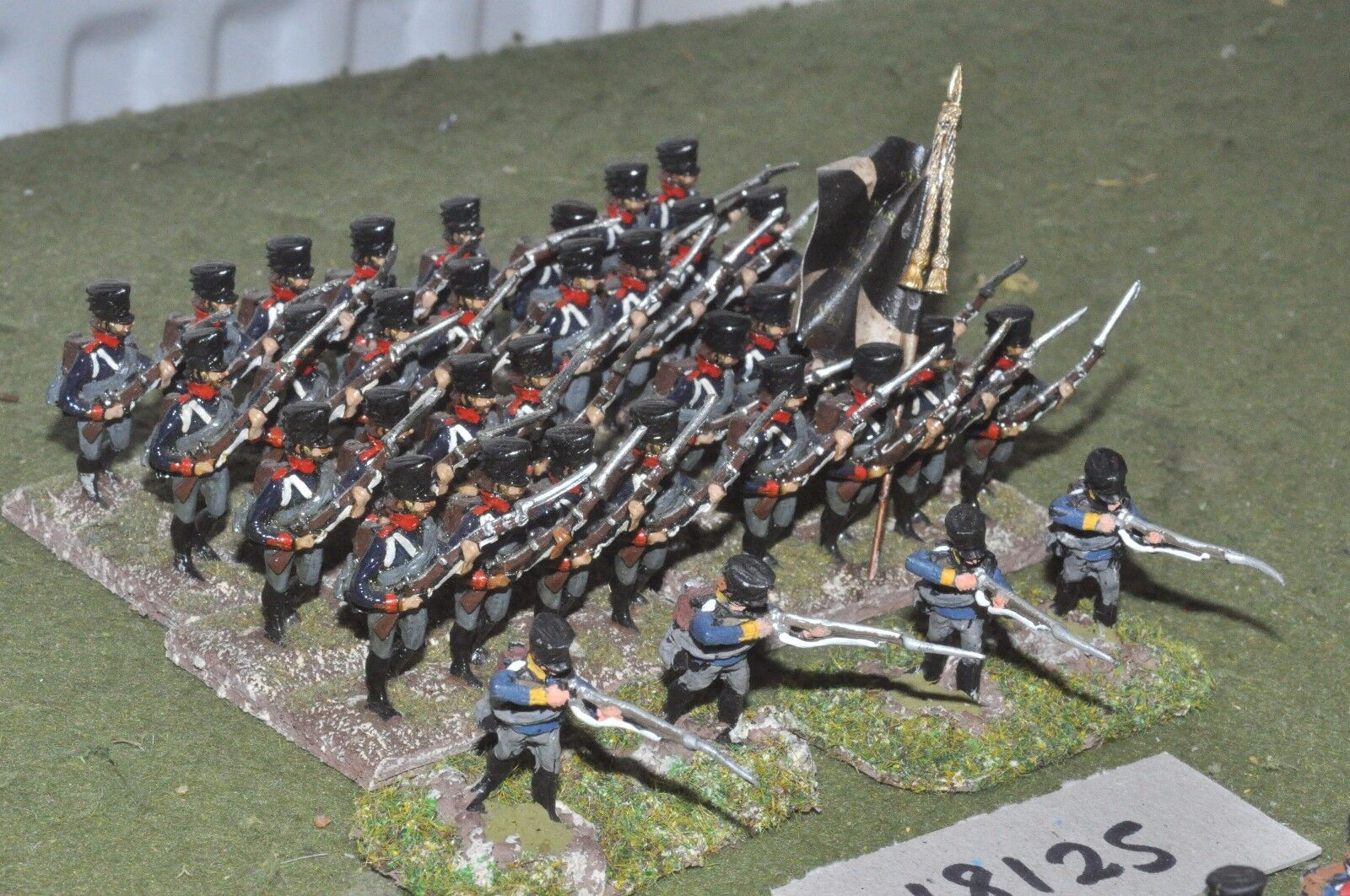 25mm napoleonic    prussian - infantry 36 figs - inf (18125)