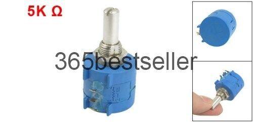 3590S-2-502L 5K Ohm 10-Turn Rotary Wire Wound Precision Potentiometer
