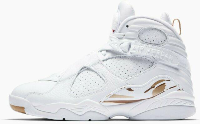 official photos c0a21 116f3 Nike AA1239-135 Air Jordan 8 OVO Drake Shoe, US 9.5 - White/Gold